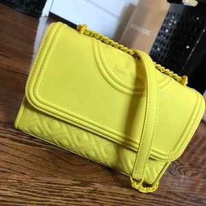 Tory Burch, Canary Yellow, Crossbody Bag